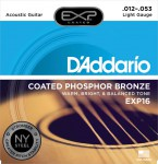 D'Addario EXP16 Coated Phosphor Bronze, Light, 12-53 Saitensatz für Akustikgitarre