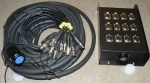 Snake Multicorekabel 20m inkl. Stagebox 8 XLR female / 4 XLR male